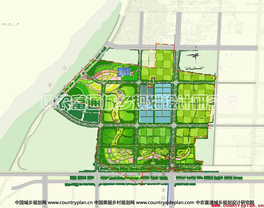 统筹示范区城镇村,合理分析小镇区域发展战略;对规划用地进行现代农业